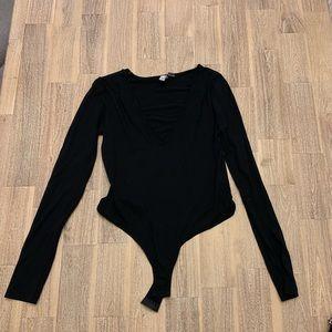 ASOS Deep V Bodysuit Small
